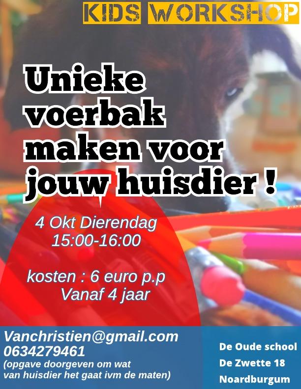 Kids workshop dierendag - Untitled Page